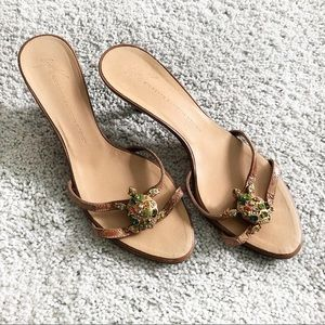 GIUSEPPE ZANOTTI crystal turtle strap sandals 7
